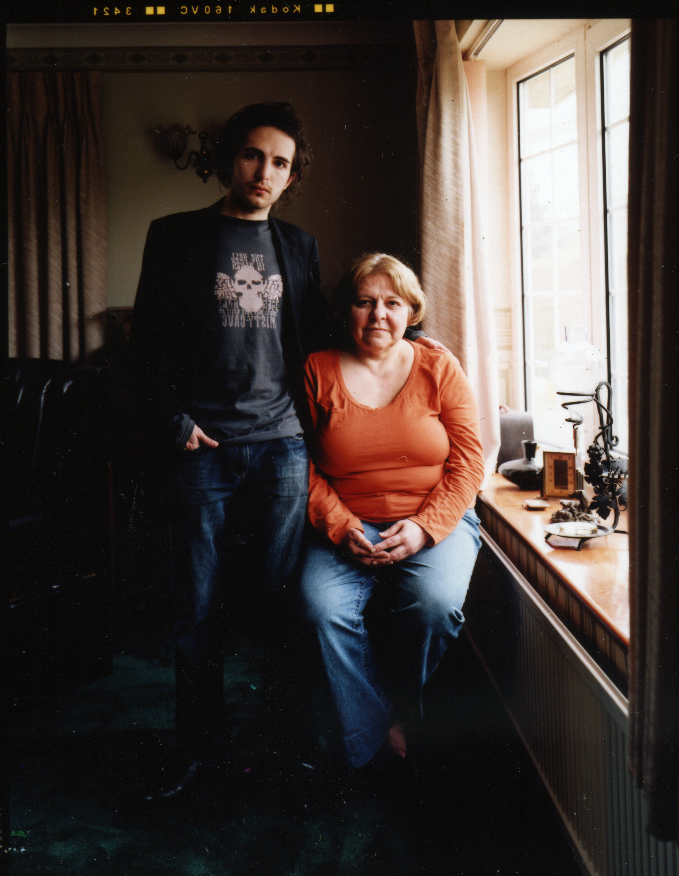 Michael Ciancia and his mother